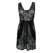 Dotti Women's Sleeveless Lace Pocket Cover-Up (S, Black)