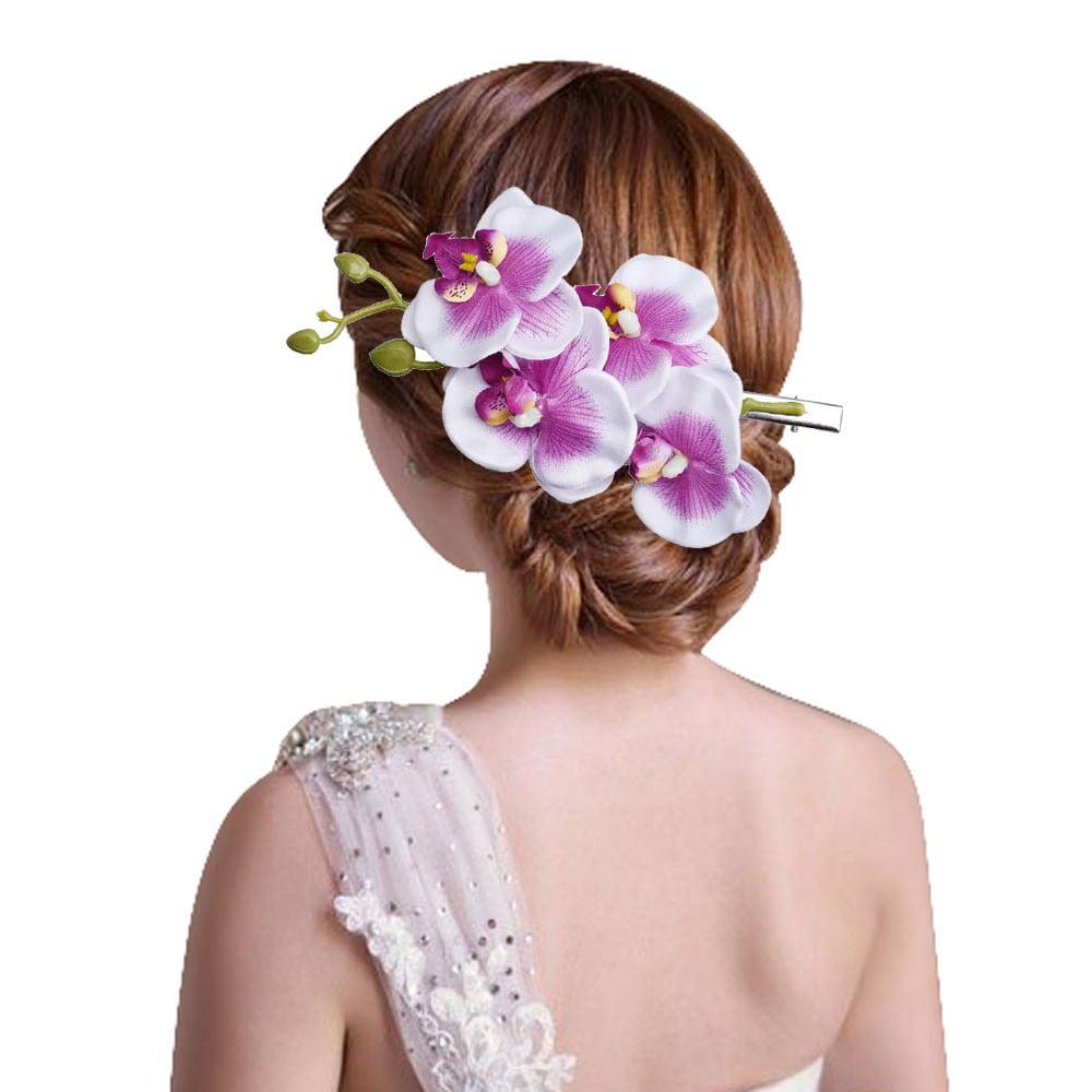 Outtop Womens Flower Hair Clip Hairpin Bridal Hawaii Party Hair Clip L P
