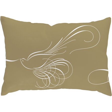 Checkerboard Lifestyle Dove of Peace Throw Pillow, Beige
