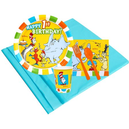 Dr Seuss 1st Birthday 8 Party Pack