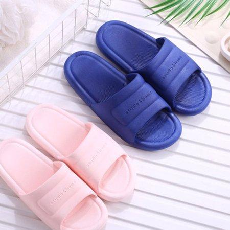 N297 Low Heels Slippers Summer Men Women Home Bathroom Non-slip Slippers - image 6 de 8