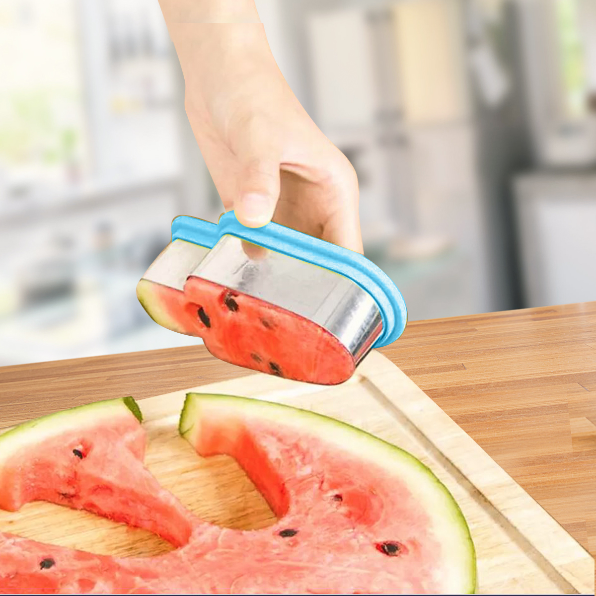 Watermelon Slicer Stainless Steel - Fun Fruit Cutter