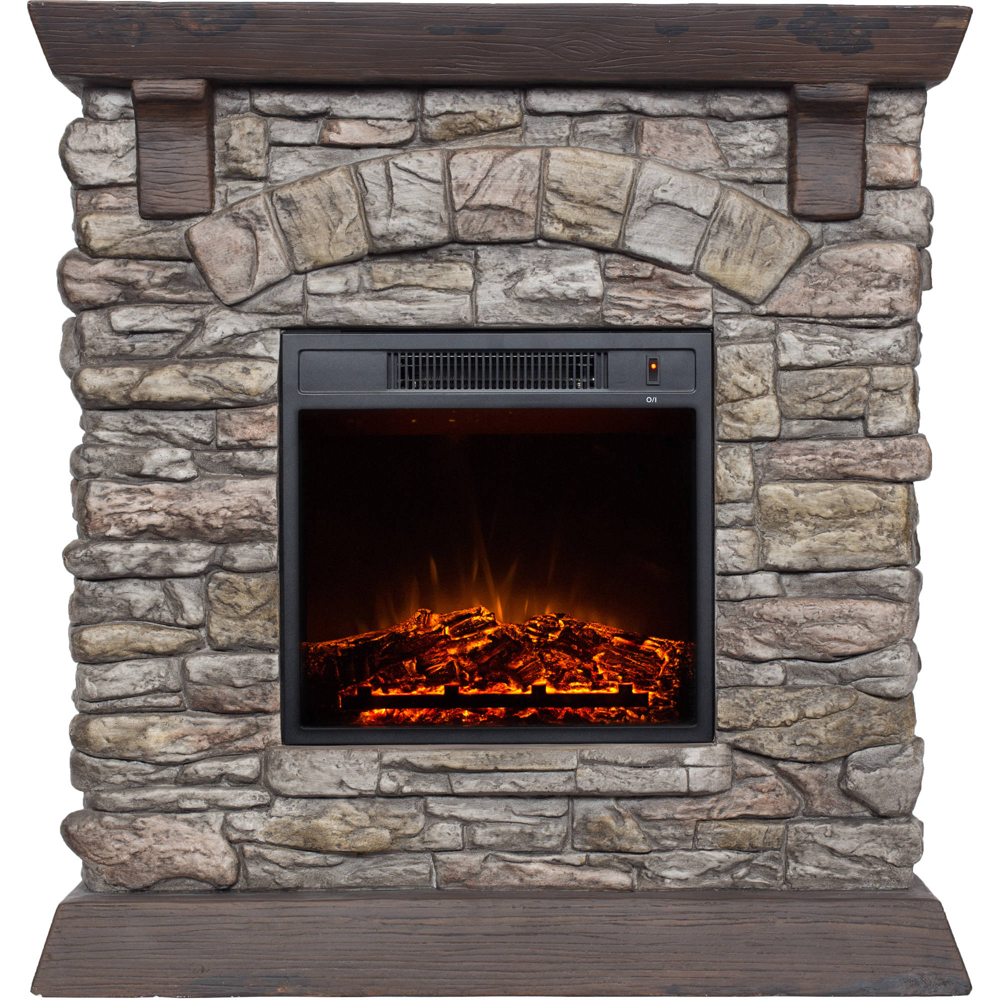 Polyfiber Electric Fireplace with 38 Mantle Walmartcom