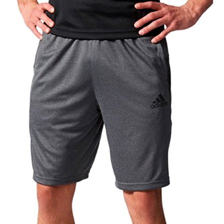 19282cabc992 Adidas Men's Climacore Knit Shorts (Large, Dark Grey Heather/Black)