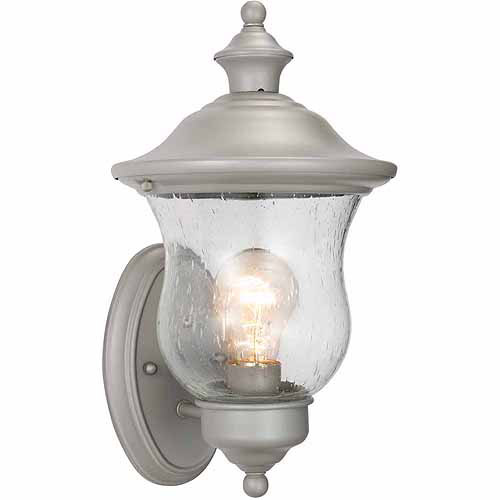"Design House 508978 Highland Outdoor Uplight, 7.5"" x 13"", Heritage Silver Finish"