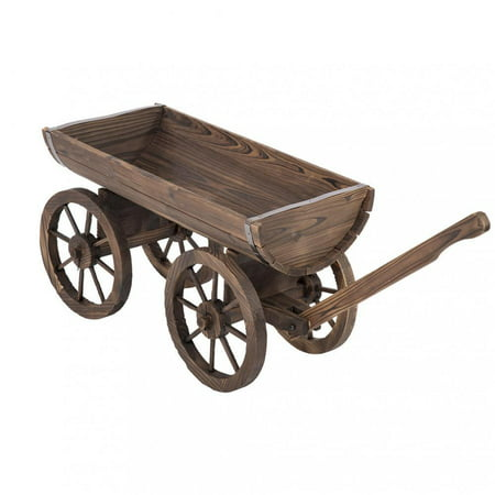 - Garden Wooden Planter Wagon Grow Flower Planter Pot Stand Holder Home Outdoor Backyard Decor