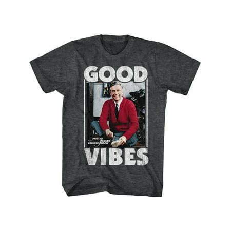 Mister Rogers Icons Good Vibes Adult Short Sleeve T Shirt (Mister Maker Halloween)