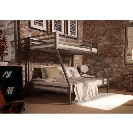 Mainstays Premium Twin Over Full Bunk Bed Black