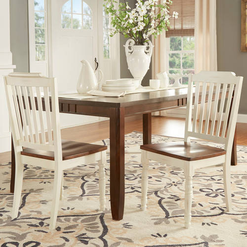 Weston Home Ohana Two Tone Dining Chair, Set of (2), Multiple Finishes by