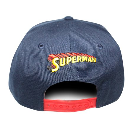 ec58e305ada1e Superman Classic Logo Licensed Navy Blue Snapback Hat - image 1 of 5 ...