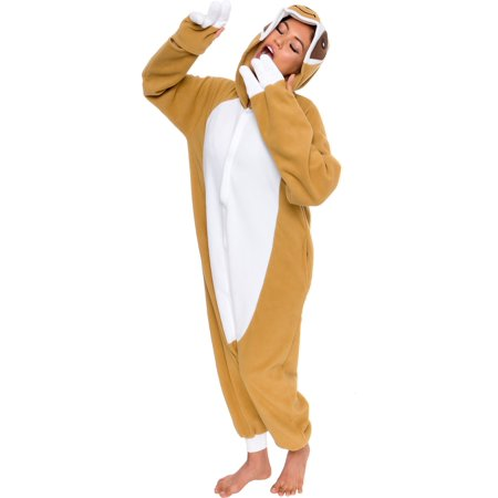 SILVER LILLY Unisex Adult Plush Sloth Animal Cosplay Costume Pajamas