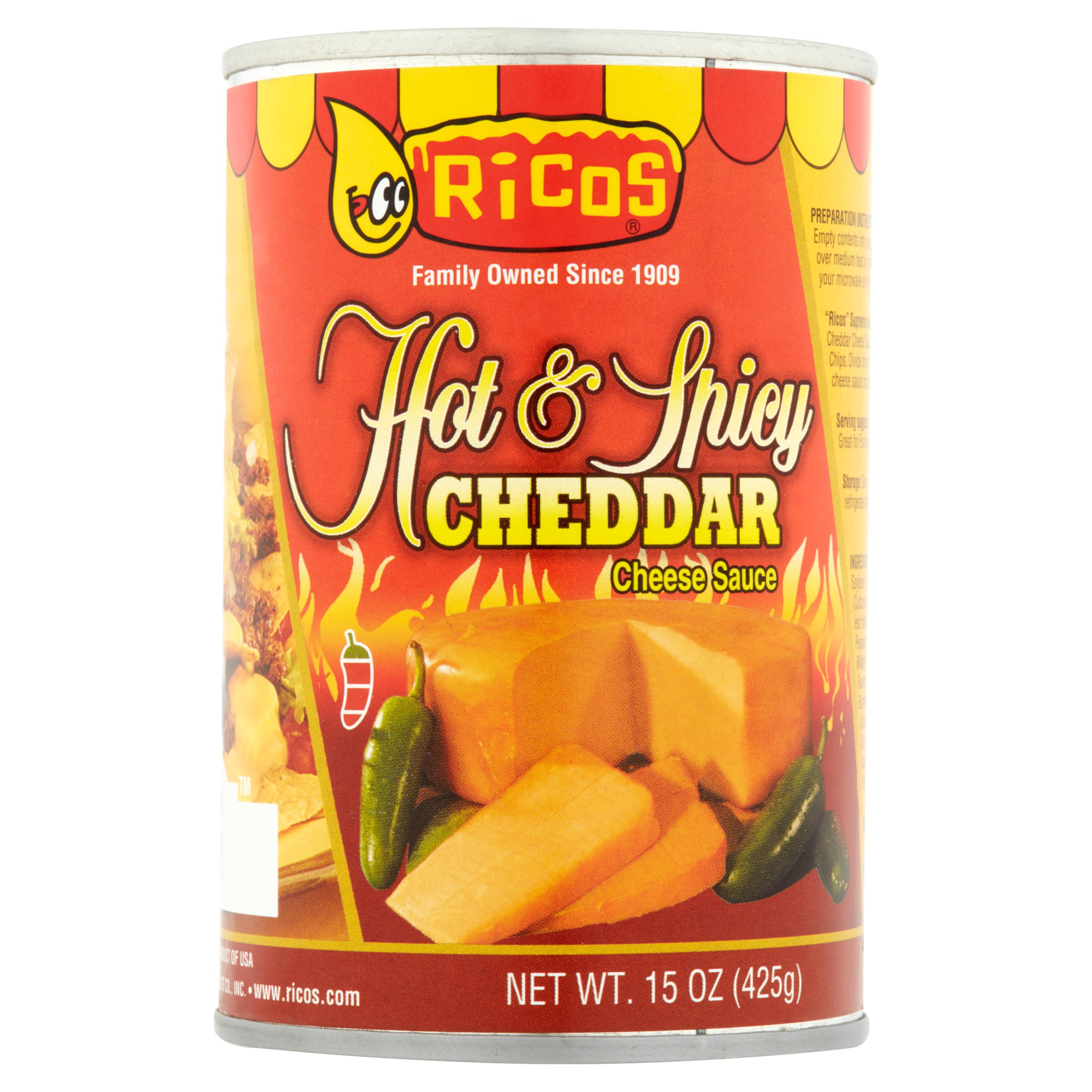 Ricos Hot & Spicy Cheddar Cheese Sauce, 15.0 OZ by Ricos Products Co., Inc.