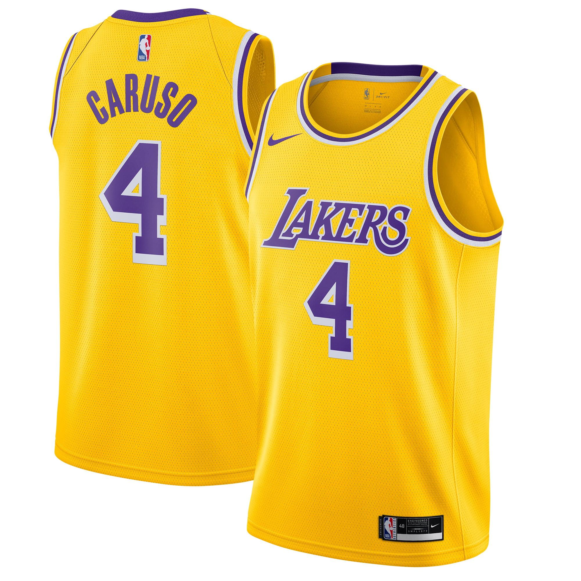 Alex Caruso Los Angeles Lakers Nike 2020/21 Swingman Jersey Yellow - Icon Edition
