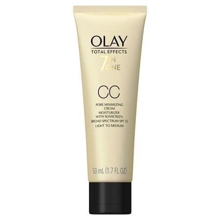 Olay Total Effects Pore Minimizing Face Cc Cream  Spf 15  1 7 Fl Oz