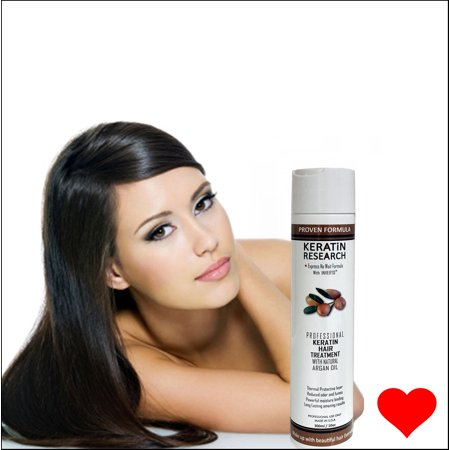 Keratin Research Brazilian Keratin Blowout Hair Treatment 300ml (10oz) Professional Results Straightens and Smooths Hair
