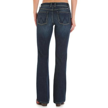 wrangler womens retro sadie low rise stretch boot cut jean, dark blue, 7x30
