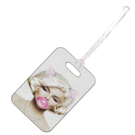 KuzmarK Luggage Travel Bag Tag -  Prom Queen Pretty Kitty
