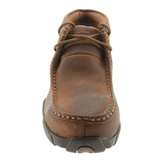 7664efcac28 Women's Twisted X WDMST01 Steel Toe Moc Work Shoe Dark Brown Full Grain 7 W
