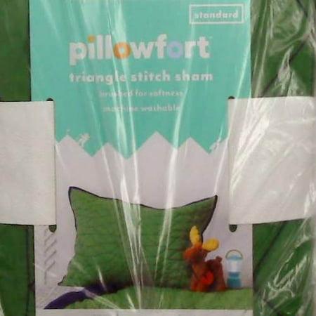 Triangle Stitch Pillow Sham (Standard) Green ? -