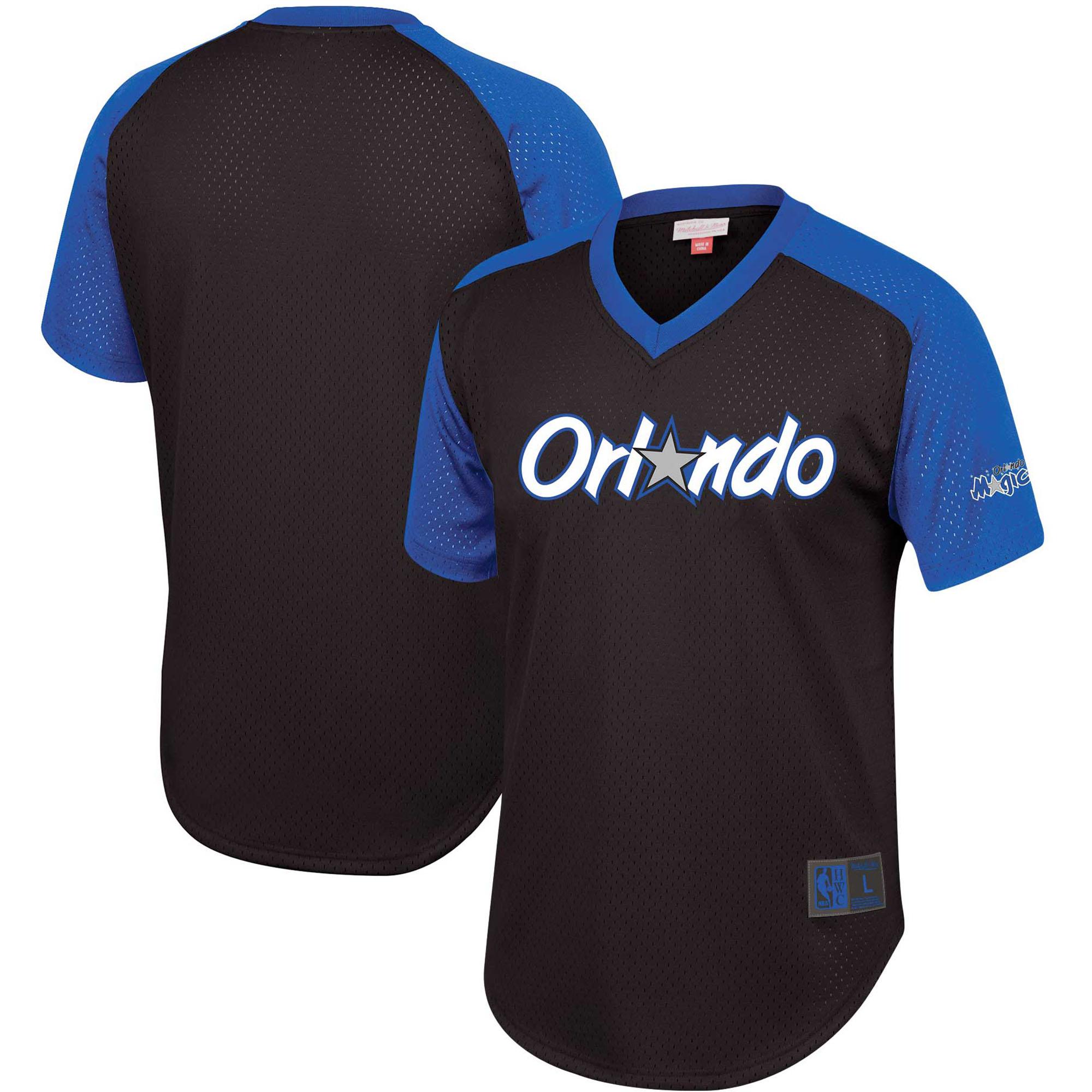 Orlando Magic Mitchell & Ness Hardwood Classics Final Seconds Mesh Raglan Sleeve V-Neck T-Shirt - Black