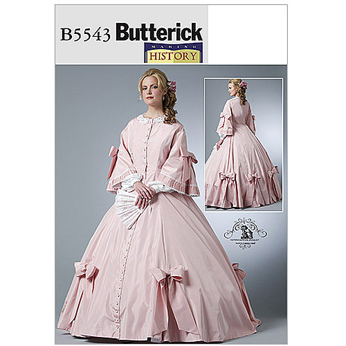 Butterick Misses' Civil War Costume, AA (6, 8, 10, 12)