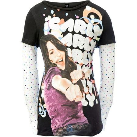 iCarly - Pow Girls Youth 2fer Long Sleeve T-Shirt - Icarly Halloween