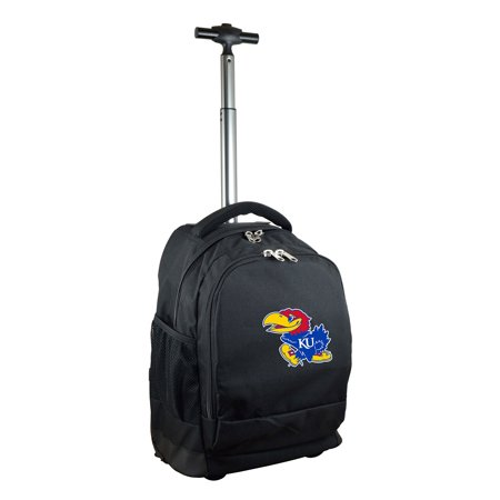 Kansas Jayhawks 19'' Premium Wheeled Backpack - Black - No Size ()
