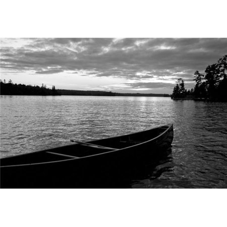 Posterazzi DPI1837712 Abandoned Canoe Floating On Water Poster Print, 19 x 12 - image 1 of 1