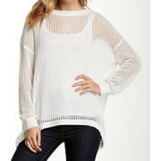 Bobeau NEW White Women's Size Medium M Open Knit Crossover Back Sweater