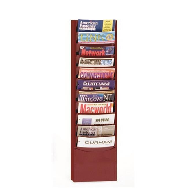 Durham Auto Mart >> Durham 402-55 Steel 11 Contour Pocket Vertical Literature Rack, Burgundy - Walmart.com