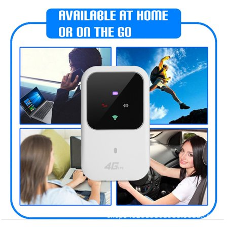 4G LTE Portable Travel Wireless Wi-Fi Router Hotspot LED Lights Supports 5 Users Modem for Car Home Mobile Travel Camping - image 5 of 10