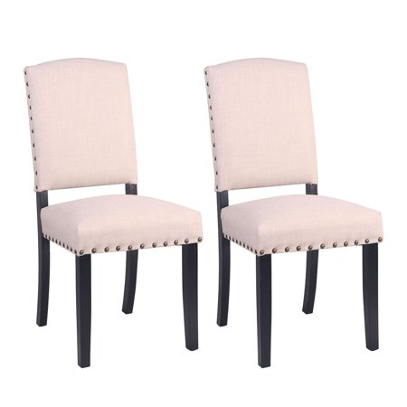 - Buy-Hive 2PCS Dining Chairs Fabric Home Kitchen Dining Room Seat Restaurant Furniture