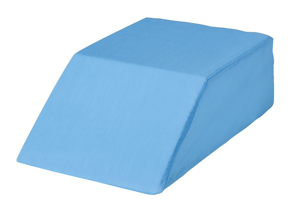 easy comforts bed wedge leg lift cushion pillow blue