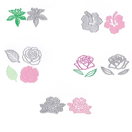 Flower Shape Cutting Dies Carbon Steel Rose Embossing Stencil Metal Mould DIY Scrapbook Photo Album Crafts - image 3 de 6