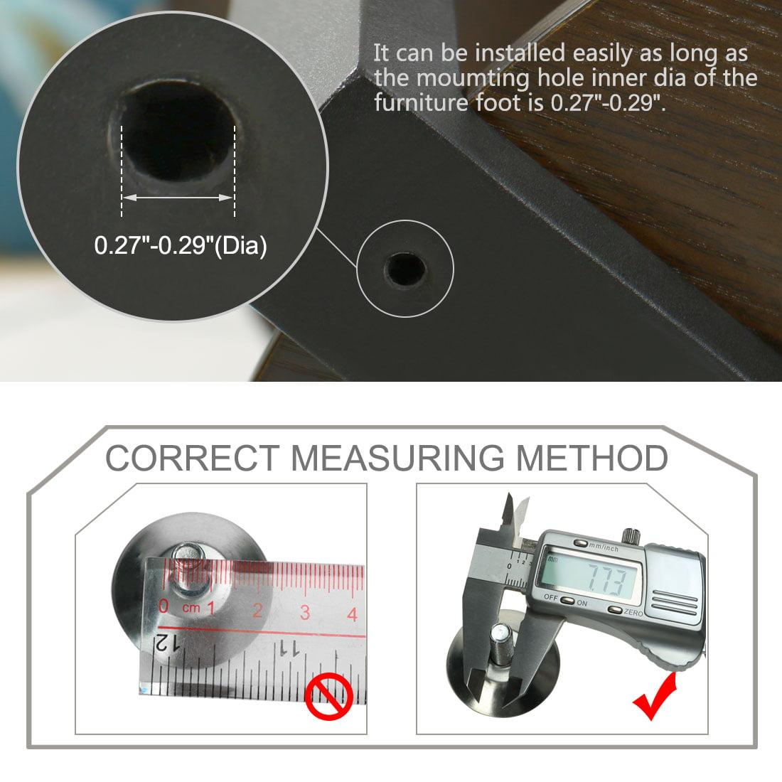 M8 x 25 x 27mm Leveling Feet Adjustable Leveler for Table Machine Leg 20pcs - image 2 de 7