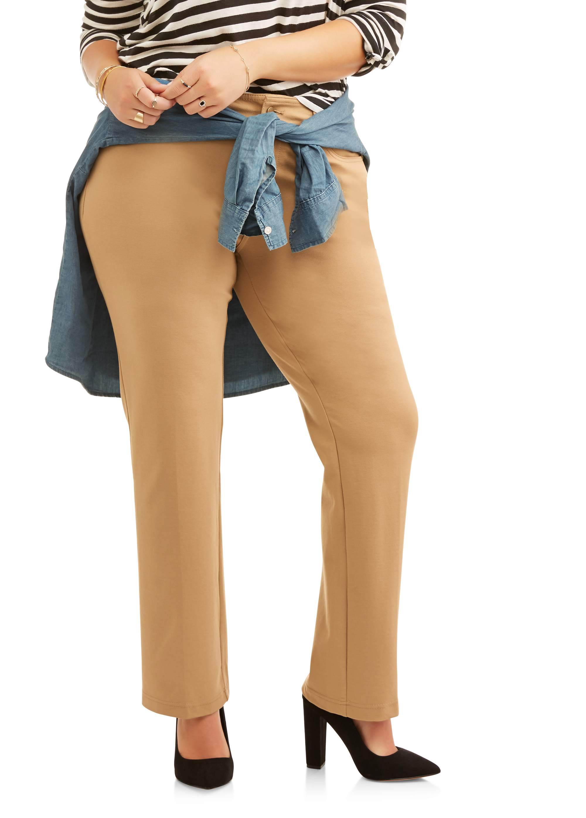 Women's Plus 5 Pocket Ponte Pant, Available in Petite Lengths