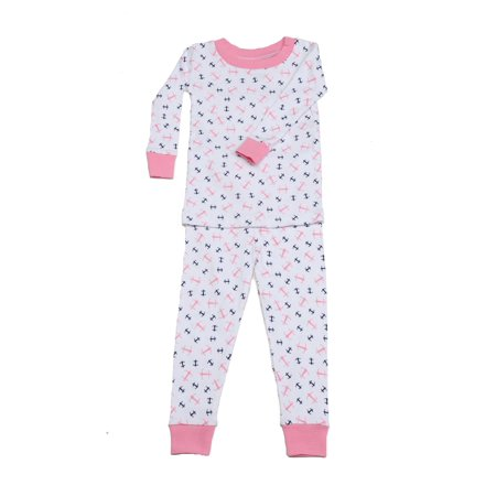 New Jammies Unisex Little Kids Pink Anchors Aweigh 2 Pc Sleepwear Set 2T-6](Anchor Pajamas)