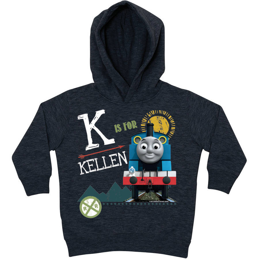 Personalized Thomas and Friends Charcoal Chalkboard Toddler Hoodie