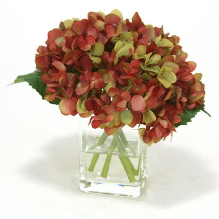 Distinctive Designs Waterlook Amethyst Hydrangeas Nosegay Artificial Flower (Amethyst Carved Flower)