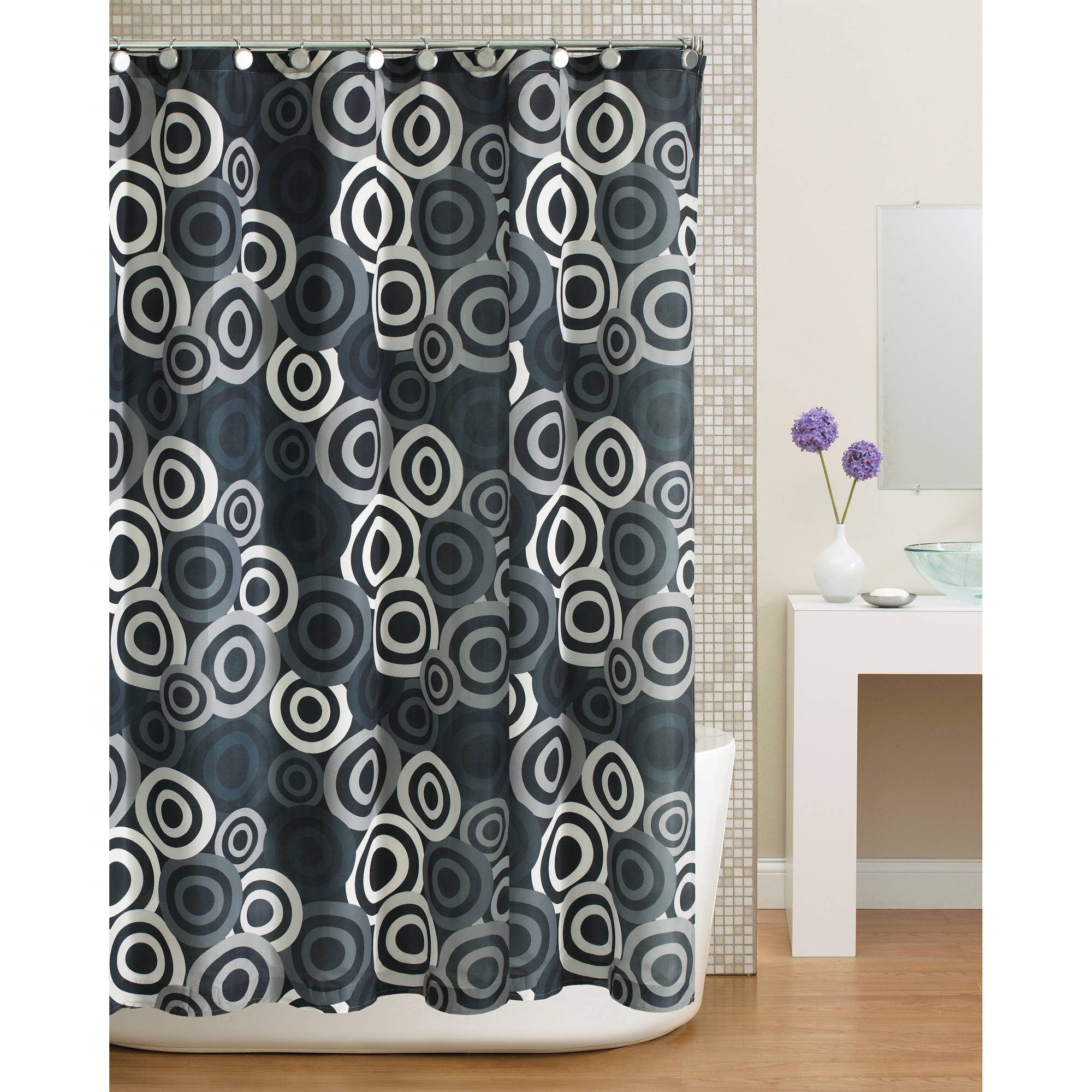 Home Trends Circles Shower Curtain
