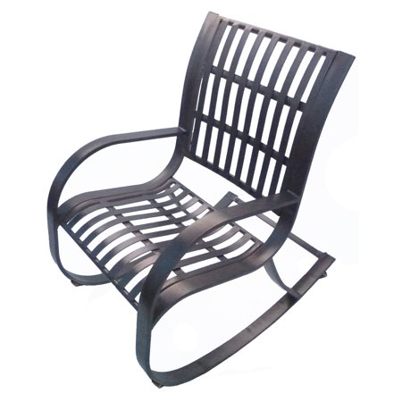 Iron Rocker - Oakland Living Noble Wrought Iron Patio Rocking Chair