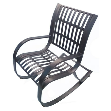 Oakland Living Noble Wrought Iron Patio Rocking Chair ()