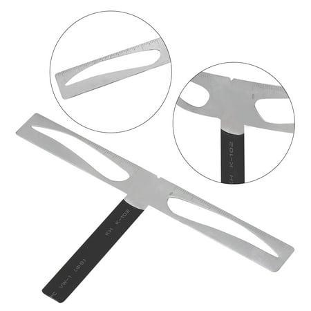 WALFRONT Règle d'équilibre des sourcils, Yosoo 2 types Règle permanente des sourcils Sourcil Mesure Équilibre Extension Règle Concepteur de forme de sourcils, Règle d'extension des sourcils, - image 3 de 7