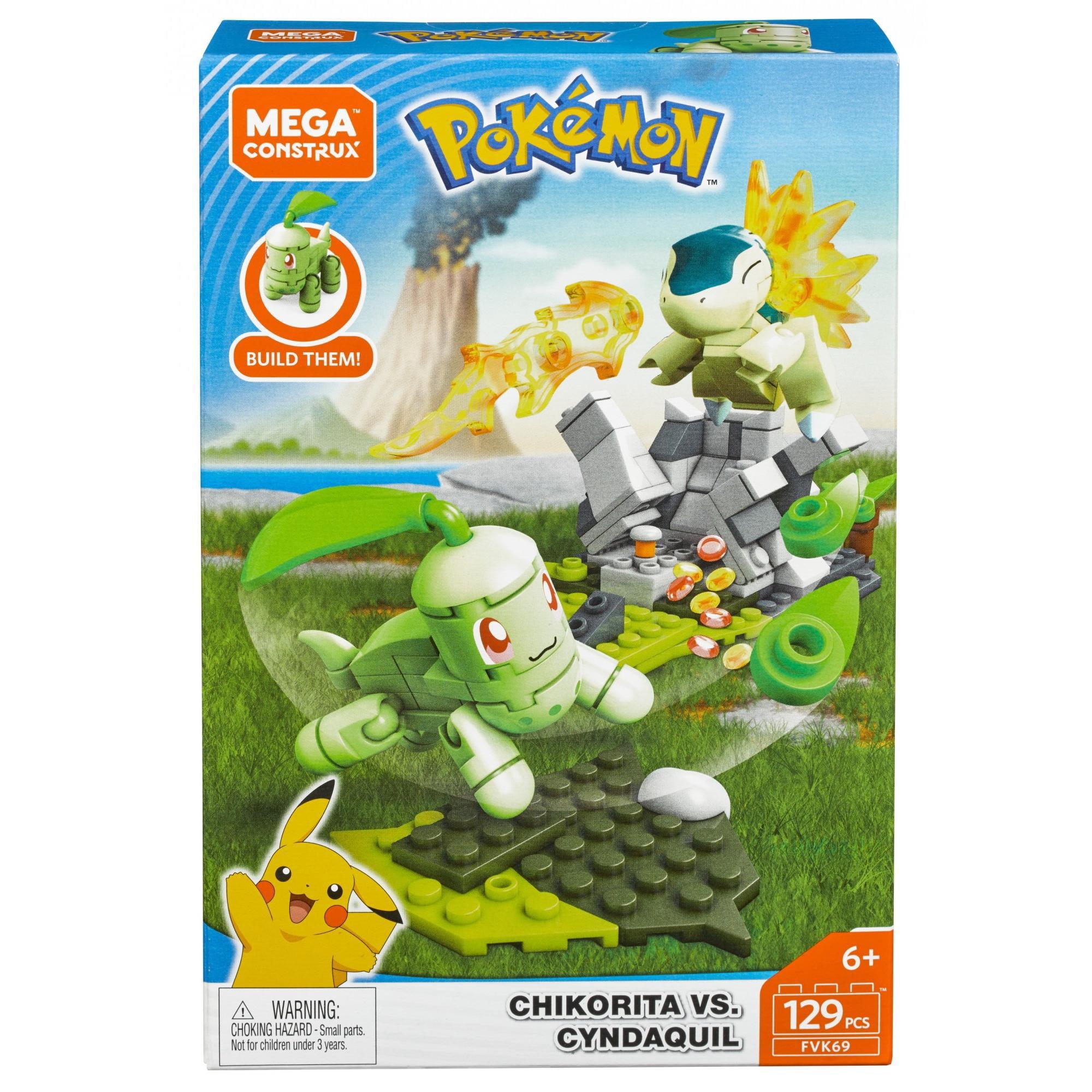 Mega Construx Pokemon Chikorita Vs. Cyndaquil by Mattel