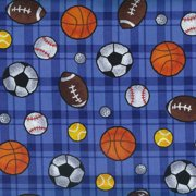 V.I.P by Cranston Boy's Club Sports Ball Fabric, per Yard