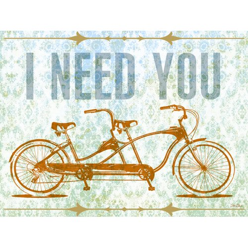 Oopsy Daisy I Need You - Tandem Bike Canvas Art
