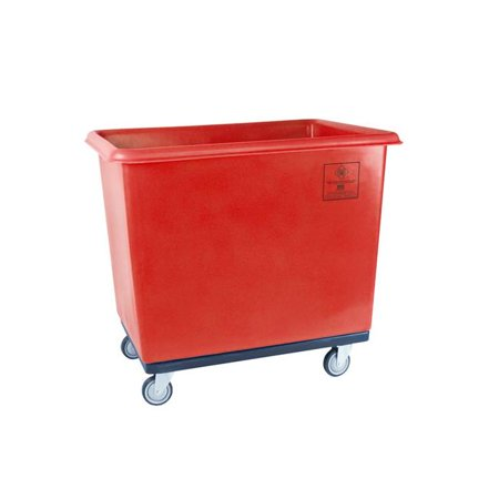 R&B Wire Products 4606RD 6 Bushel Standard Poly Truck All Swivel Casters, Red - 32 x 21.75 x 26.75 in.