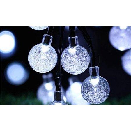 Solar Ed Led String Ball Lights Cold White Lighting Decorations Holiday Christmas
