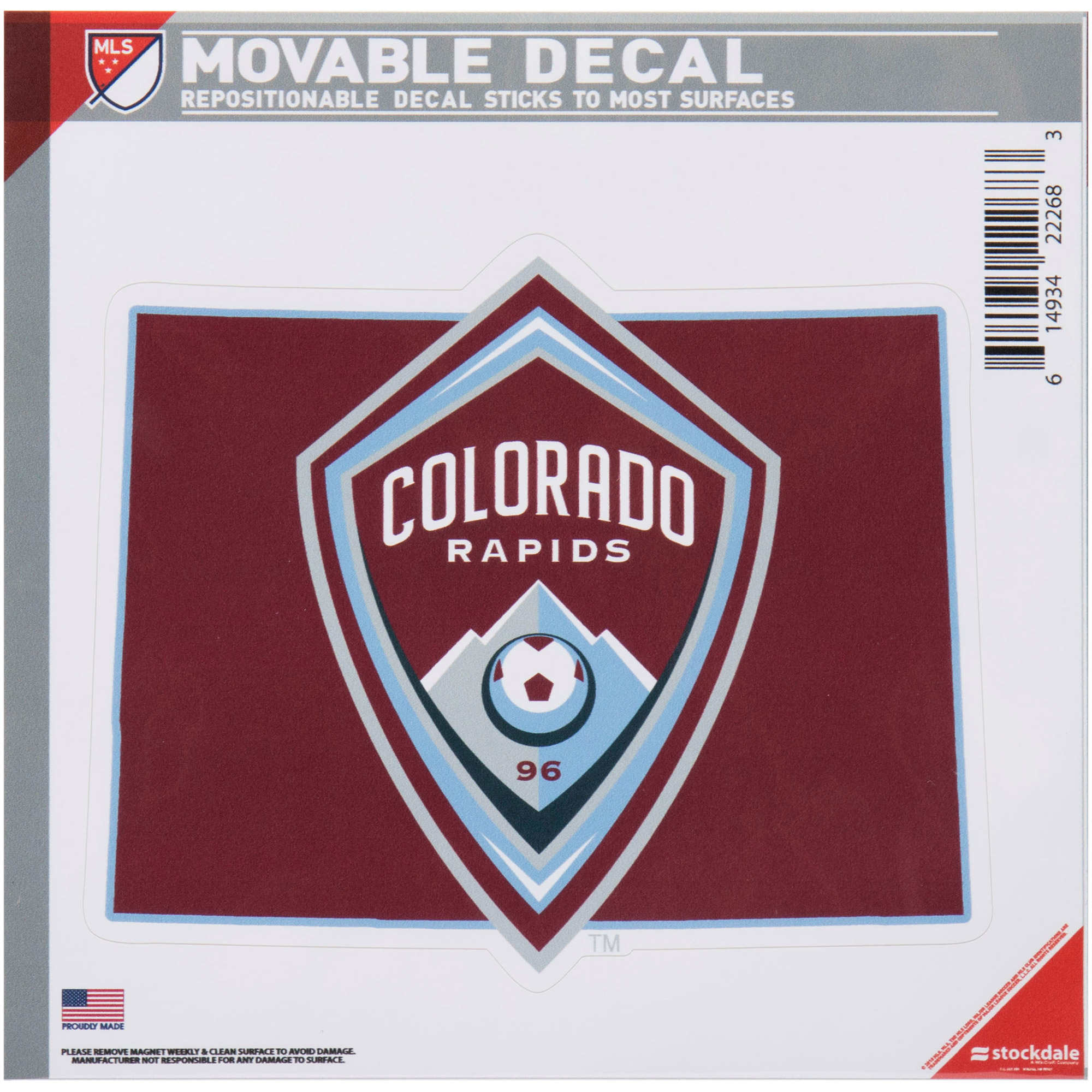 Colorado Rapids All Surface State Decal Logo - No Size