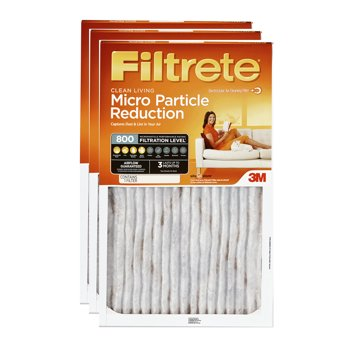 3-Pack Filtrete 800 MPR HVAC Furnace Filter from $13.62 (various sizes)